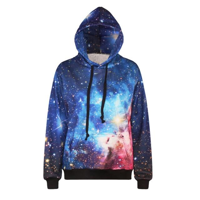 Starlight Imprimer Hoodies 3d Univers Space Nébuleuse Lumière Deep TvqRA