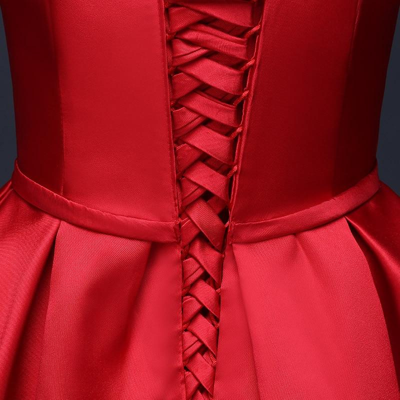 671c46d33233 Più nuovo arrivo eleganti vestiti da sera rossi 2016 una linea semplice  satin formal prom abiti lunghi de noite custom made e in Più nuovo arrivo  eleganti ...