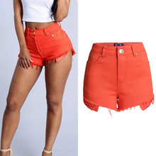 NiceMix 2019 3 Candy Color Summer Sexy Booty Shorts Femme Cotton High Waist Women Short Taille Haute Pantalon Corto Mujer