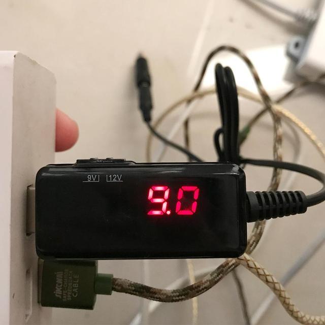 새로운 usb 부스터 케이블 5 v 9 v 12 v dc 전압 스텝 업 컨버터 1a 스텝 업 디스플레이 + 3.5x1.35mm 커넥터