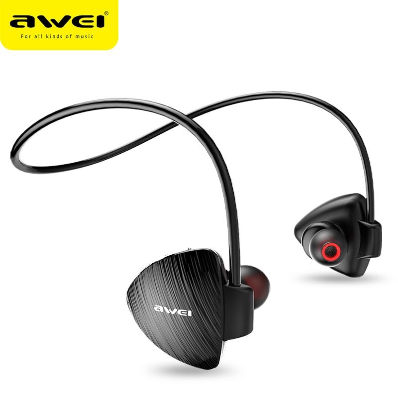 DRXENN Awei A847bl Bluetooth Earphone Waterproof Sport Running Wireless Headphones Stereo Bass Headset With Mic