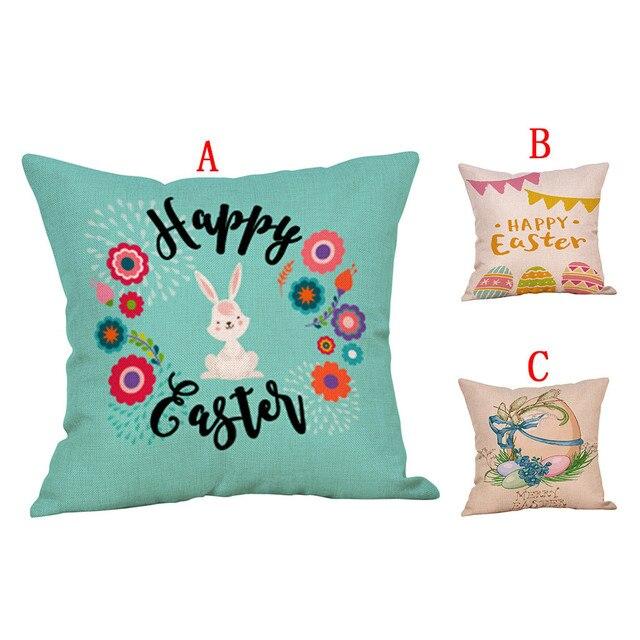 かわいいウサギのプリントコットンリネン広場ホーム装飾スロー枕ソファ腰クッションカバー快適な装飾枕