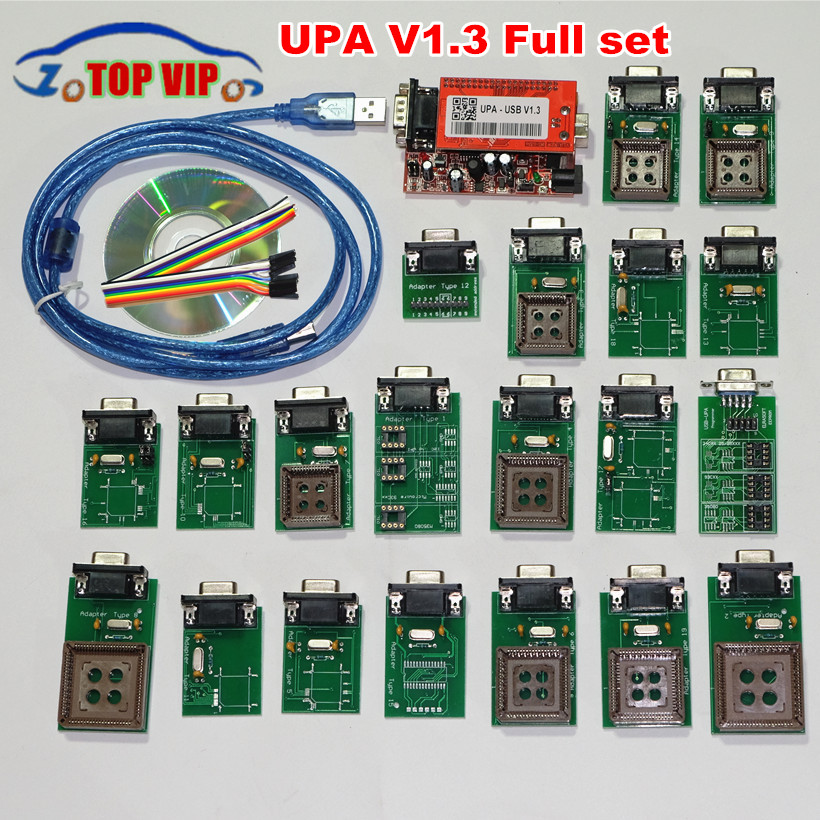 Best Upa usb Programmer 2018 UPA V1.3 with full Adapter ECU Chip Tuning upa programador upa-usb ECU Programmer new upa usb 2014 v1 3 0 14 with full adapters upa usb device programmer v1 3 auto ecu tool in stock