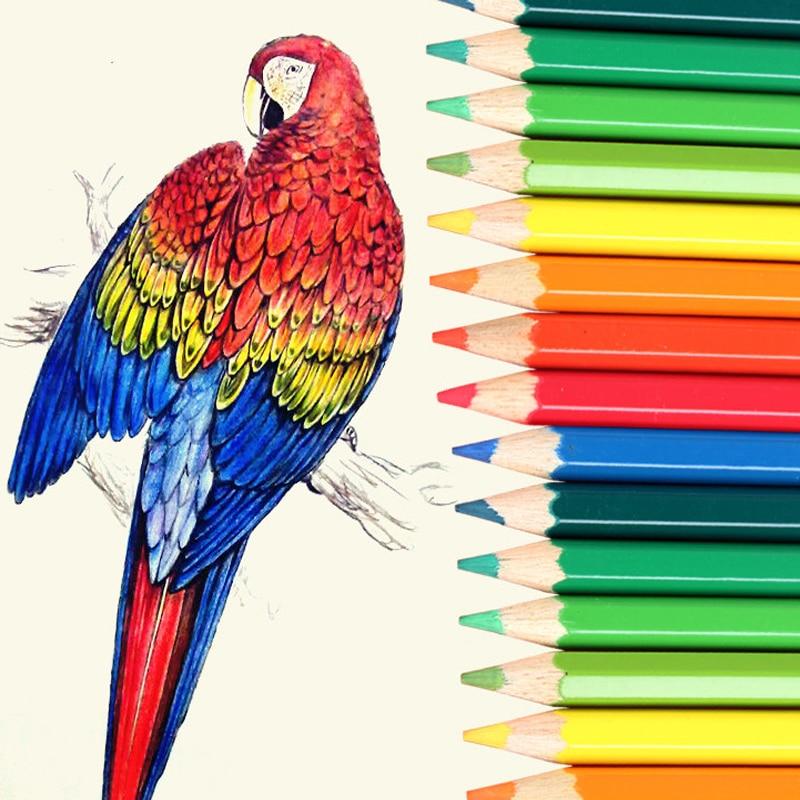 48/72/120/160 Colors Wood Colored Pencils Set Artist Painting 3