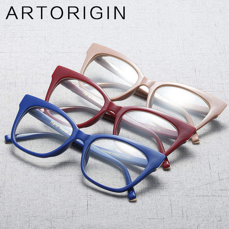 ARTORIGIN Cat Eye Clear Glasses Women Quality Optical Eyeglasses Pure Myopia Glasses Frame oculos de grau feminino AT9249