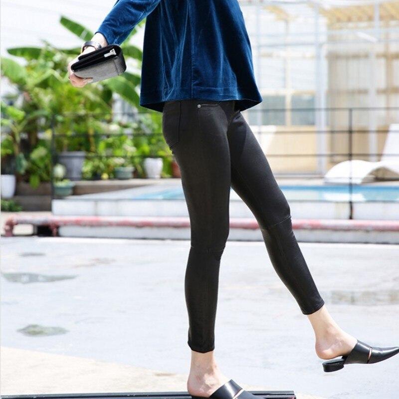 Панк рейв женские готические сексуальные леггинсы с дырками стимпанк эластичные облегающие Женские брюки модные кожаные леггинсы - 3