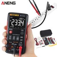 Digital Multimeter Auto Button 9999 Counts True RMS Backlight NCV Analog Bar Graph AC/DC Voltage Ammeter Mastech Test PK RM409B