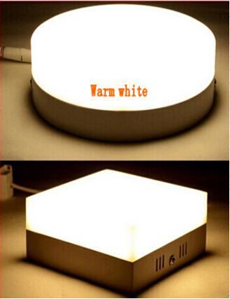 Doprava zdarma 1ks 24W LED stropní světlo na povrch namontovaný LED diodový panel teplý bílý / studený bílý vysoký luminiscenční LED vnitřní světlo
