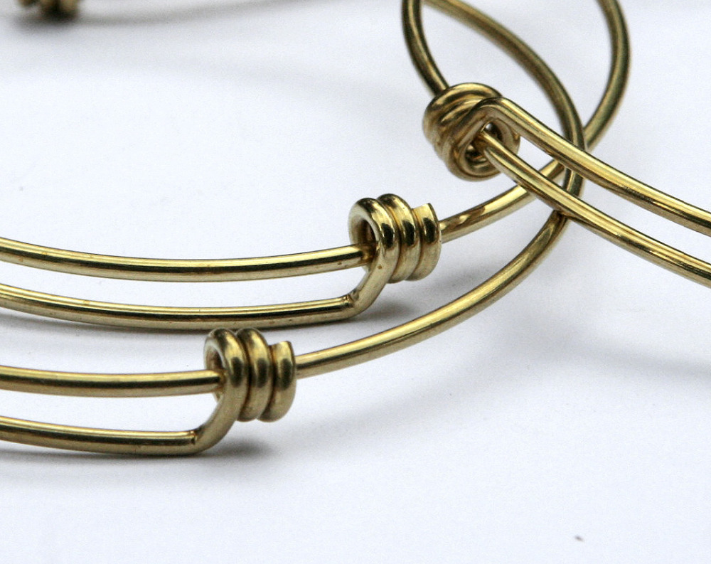 100 Pieces of Brass Expanable Bracelet Bangle, Adjustable Bracelet Blank, Expandable wire bangle bracelet