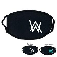 Женская и мужская черная маска для рта PM2.5 креативный мультяшный светящийся пылезащитный Хлопковый чехол для рта полумаска для лица Прямая поставка