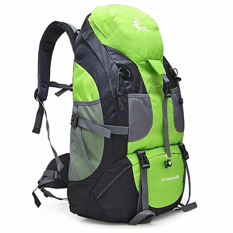50L водонепроницаемый рюкзак для пеших прогулок мужские треккинговые дорожные рюкзаки для женщин уличная спортивная сумка альпинистские сумки походный пакет