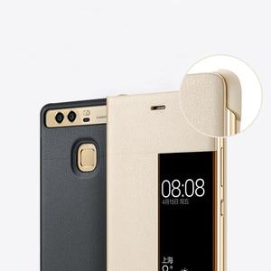 Image 2 - Huawei Original Smart Telefon Fall Ansicht Abdeckung Flip Fall Für Huawei P9 Gehäuse Schlaf Funktion intelligente Telefon Fall