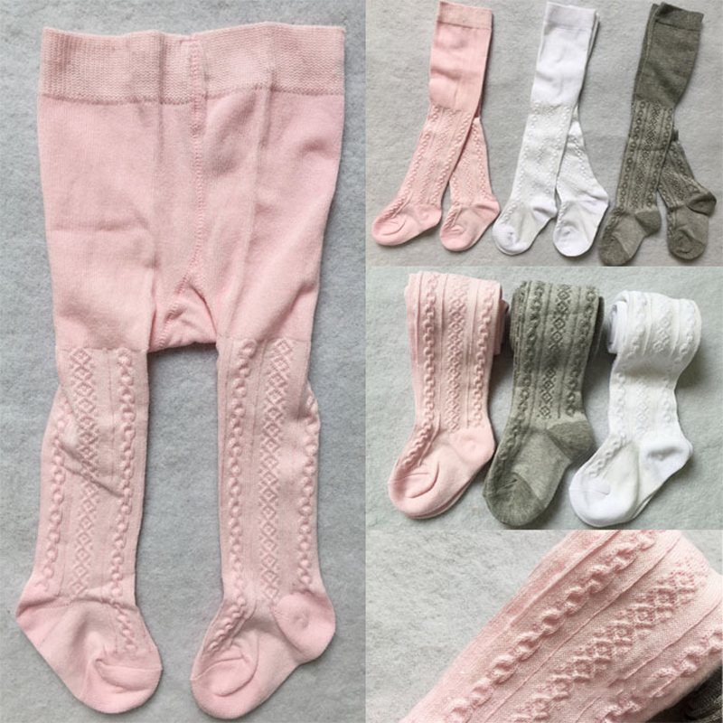 baby Spring/Autumn Tights Cotton Baby Girl Pantyhose Kid Infant Knitted Collant Tights Soft Infant Clothing 2016new baby cotton tights double needle fishnet tights newborn toddler infant spring autumn baby non slip tights