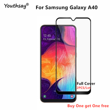 For Samsung Galaxy A40 Glass Screen Protector Full Glue Cover Film for