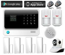 Freeship Wireless Security Camera Alarm System GSM Auto dial Home Office PIR GSM Alarm System With IP Camera Home Surveillance