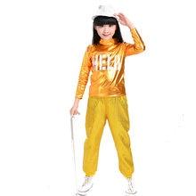 Hip Hop Ropa para Niñas sudadera Tops pantalones de baile de Jazz trajes de  baile de salón de baile ropa de los niños de la call. 55aff20267b