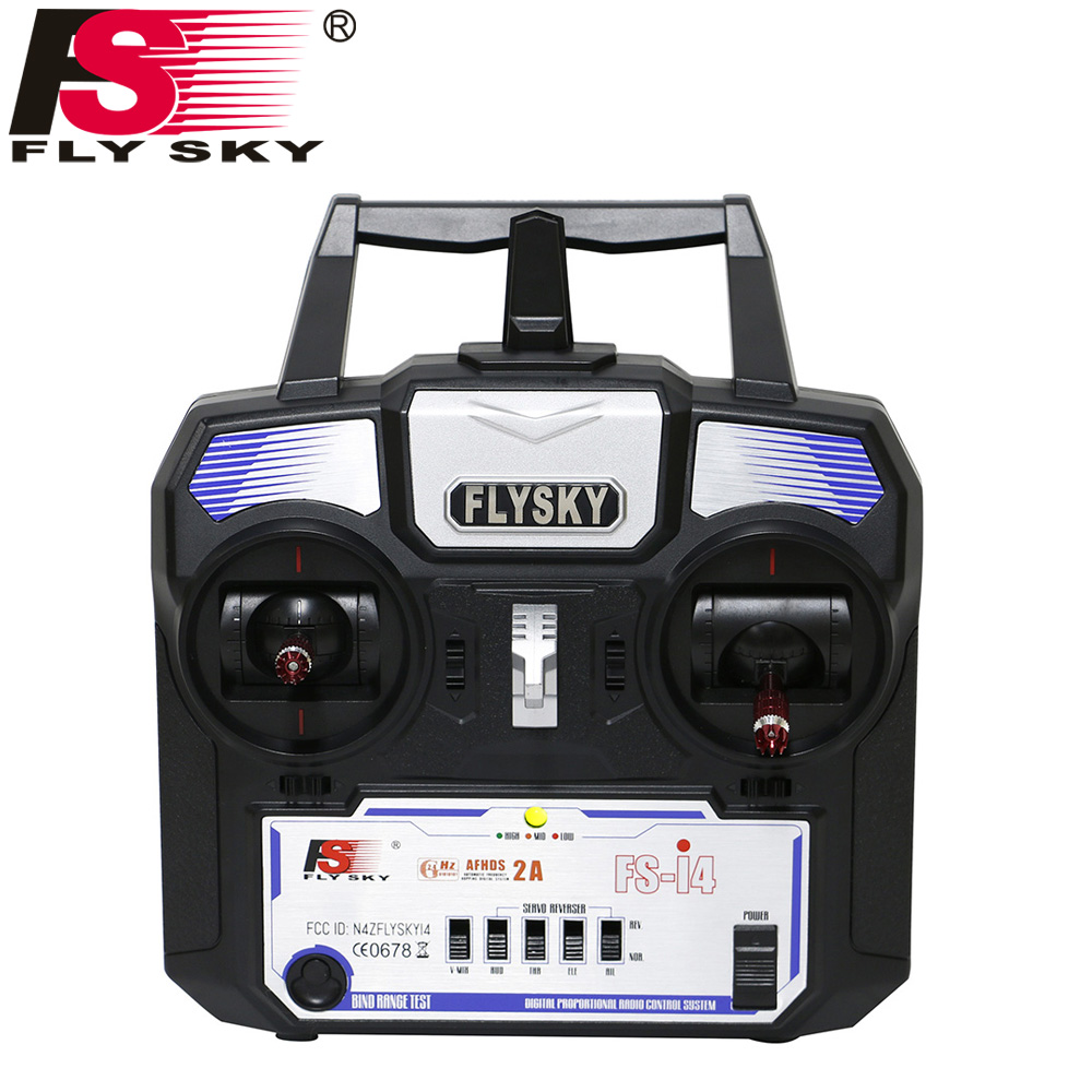 Flysky Fly sky FS-i4 AFHDS 2A 2.4GHz 4CH Radio System RC Transmitter for RC Helicopter Glider with FS-A6 Receiver niorfnio portable 0 6w fm transmitter mp3 broadcast radio transmitter for car meeting tour guide y4409b