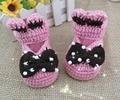 Venta caliente botines bebés Bautismo zapatos hechos a mano de lana de punto zapatos de bebé zapatos de niño niñas bautismo s mayor nueva ar