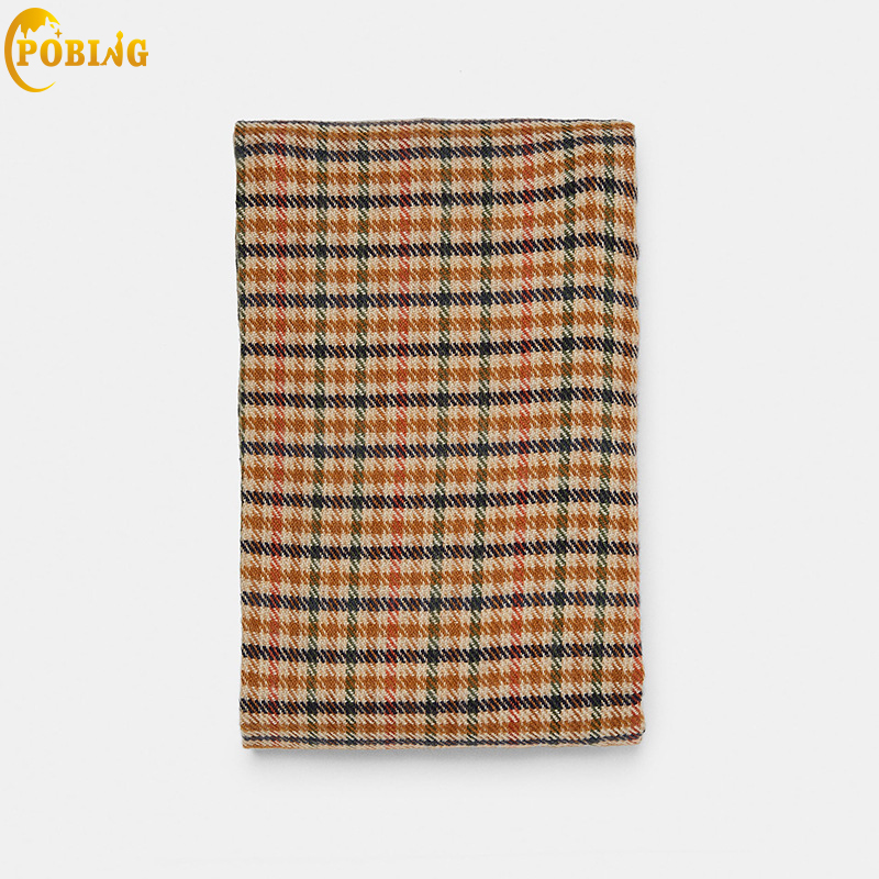 POBING Luxury za Brand Birds Plaid Cashmere   Scarf   Women Basic   Scarves     Wraps   Shawl Warm Winter Blanket Pashmina Lady Cape Stoles