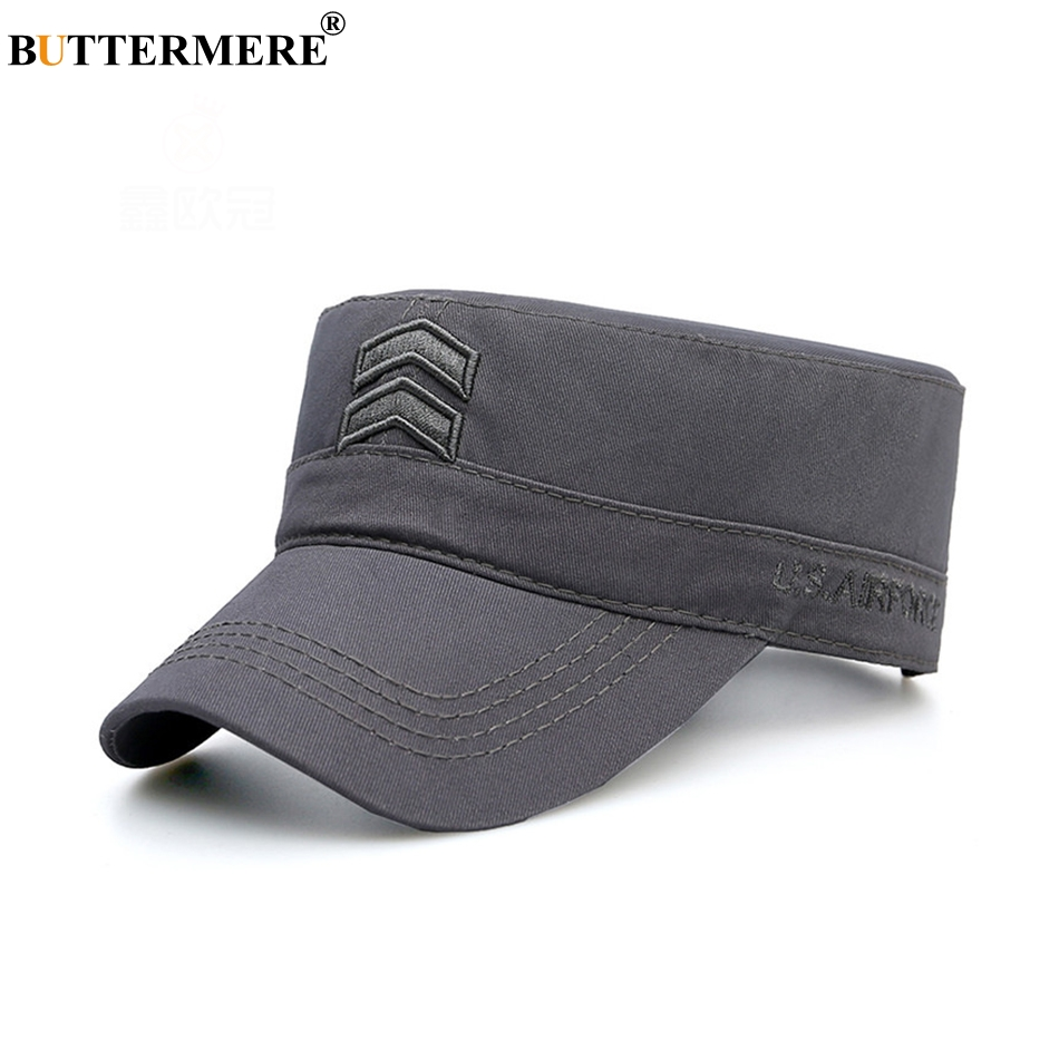 Features  Cotton Military Hats For Men   Casual Army Caps   Classic Flat  Top Hat. BUTTERMERE Hat Cowboy ... 9956be5fac8f