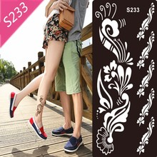 1Pc Tattoo Templates Hands/Feet Henna Tattoo Stencils For Airbrushing Professional Mehndi Body Painting Kit Supplies