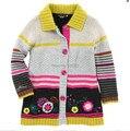 Catimini девушки одежда 2014 весна осень девушка с длинным рукавом трикотаж хлопок tee свитер пальто из девушек enfant