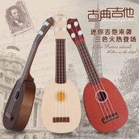 Vier Schnur-Gitarre Melody Play Simulation Spielzeug Spielzeug Musikinstrument Klavier Musik Requisiten Kinder Geschenke