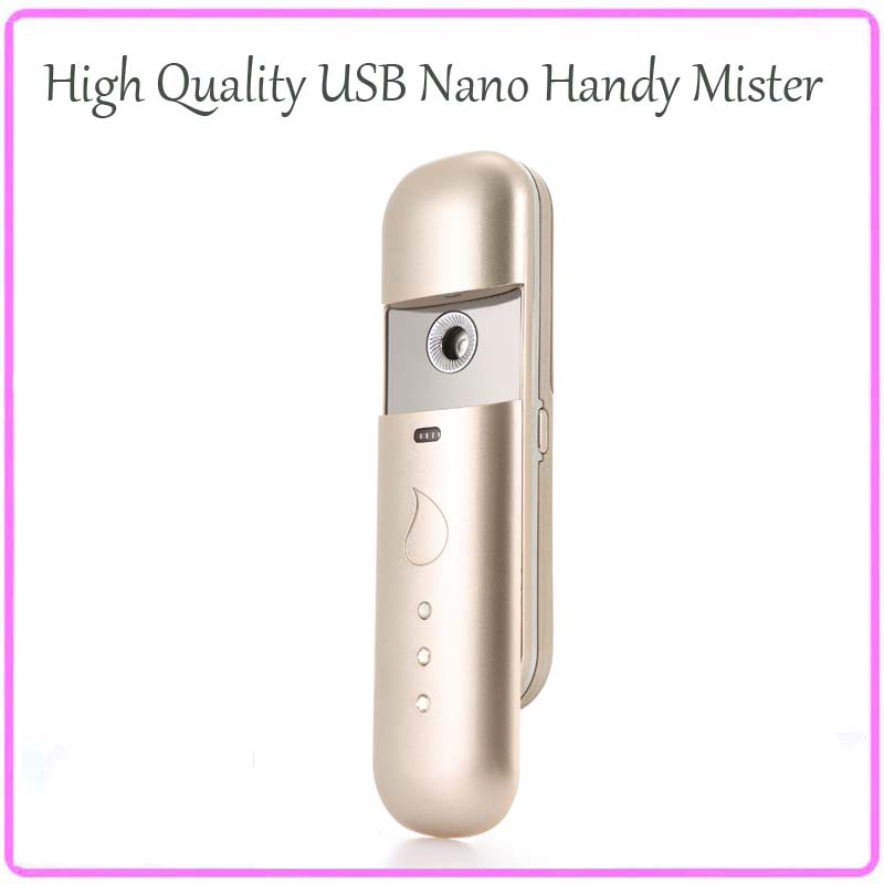 Free Shipping Ultrasonic Ionic Moisturizing Nano Handy Mist Ion Fog Spray Mister Facial Steamer Skincare Beauty Machine фен elchim 3900 healthy ionic red 03073 07