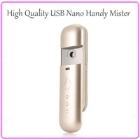 Free Shipping Ultrasonic Ionic Moisturizing Nano Handy Mist Ion Fog Spray Mister Facial Steamer Skincare Beauty Machine