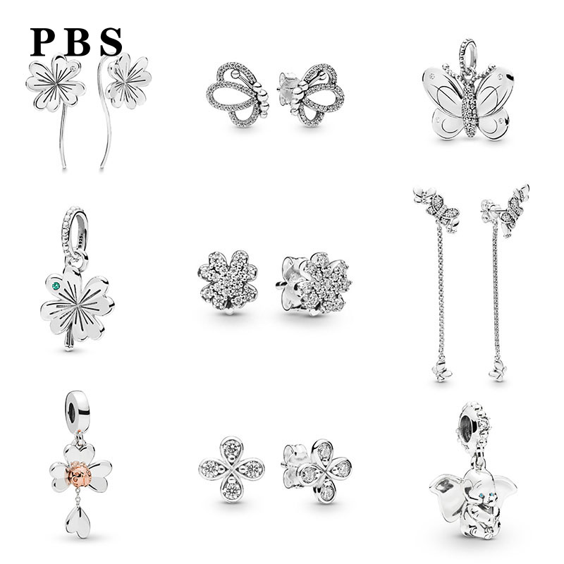 Pbs 100% Pure Silver Original Copy High Quality 1:1 2019 Latest Spring Flower Series New Logo Free Wholesale Manufacturers