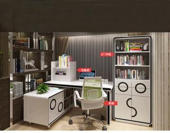 Mesa de oficina blanca para Escritorio, Mesa de estudio con lector de...