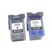 UP 2pk сменный чернильный картридж для HP 56 56 57 для HP 1100 1210 2179 1200 2200 2500 4210 DJ 450/450cbi/450ci/450wbt принтер