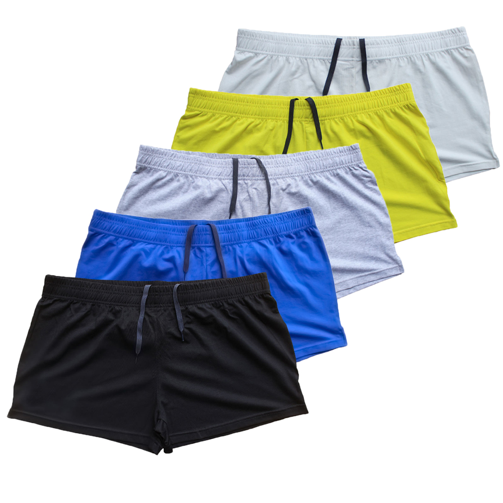 Custom LOGO Plain Workout Shorts High Quality Cotton Men's Shorts Fitness Bodybuilding Clothing Trousers Joggers Clothing
