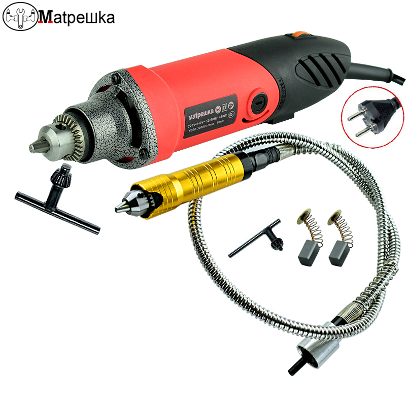 480W Mini Drill Electric Engraver Dremel Style Power Tools Die Grinder With Flexible Shaft Abrasive Tool Drill Electric variable die grinder ceramic metal abrasive tools micro electric hand drill mini engraver with polishing tool electric drill
