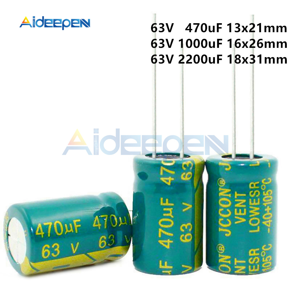 470uF 1000uF 2200uF 63V Low Aluminum Capacitor DIY Kit