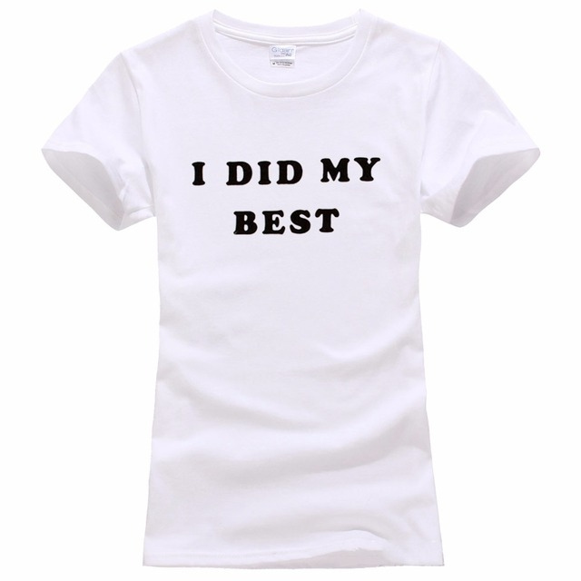 584b1db8 Tailored Shirts Crew Neck Women I Did My Best Short-Sleeve Top T Shirt