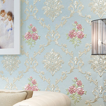 European Rustic Wall Papers Home Decor 3D Damascus  Embossed Floral Wallpaper Roll for Bedroom Walls Mural Contact Paper стоимость