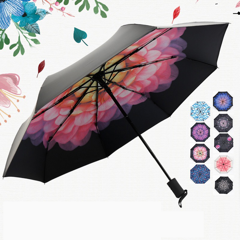 JESSEKAMM New Arrive Anti-UV Strong High Quality Fully Automatic For Ladies Women Girl Umbrellas Multi Color Hot sale Fashion