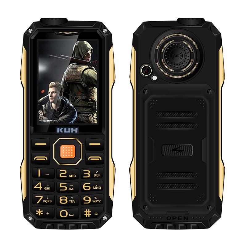 Orijinal KUH T998 ile sağlam cep telefonu mp3 mp4 güç bankası darbeye dayanıklı toz geçirmez bluetooth 3.0 el feneri FM gerek yok kulaklık