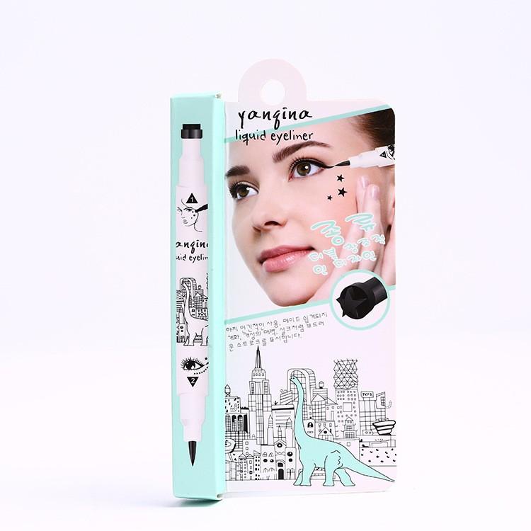 Waterproof-Eyeliner-Pen-Not-Blooming-Eye-Makeup-Embellish-Love-Heart-Five-Star-Logo-Ornament-Natural-Long (2)