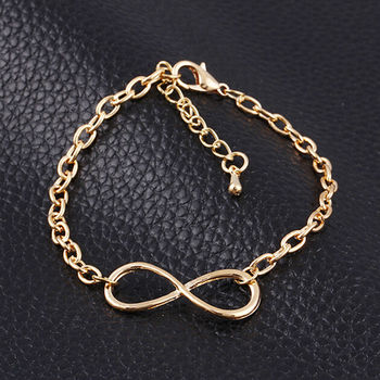 Fashion Number 8 Endless Bracelet For Women Forever Eternal Friendship Infinity Silver Color image