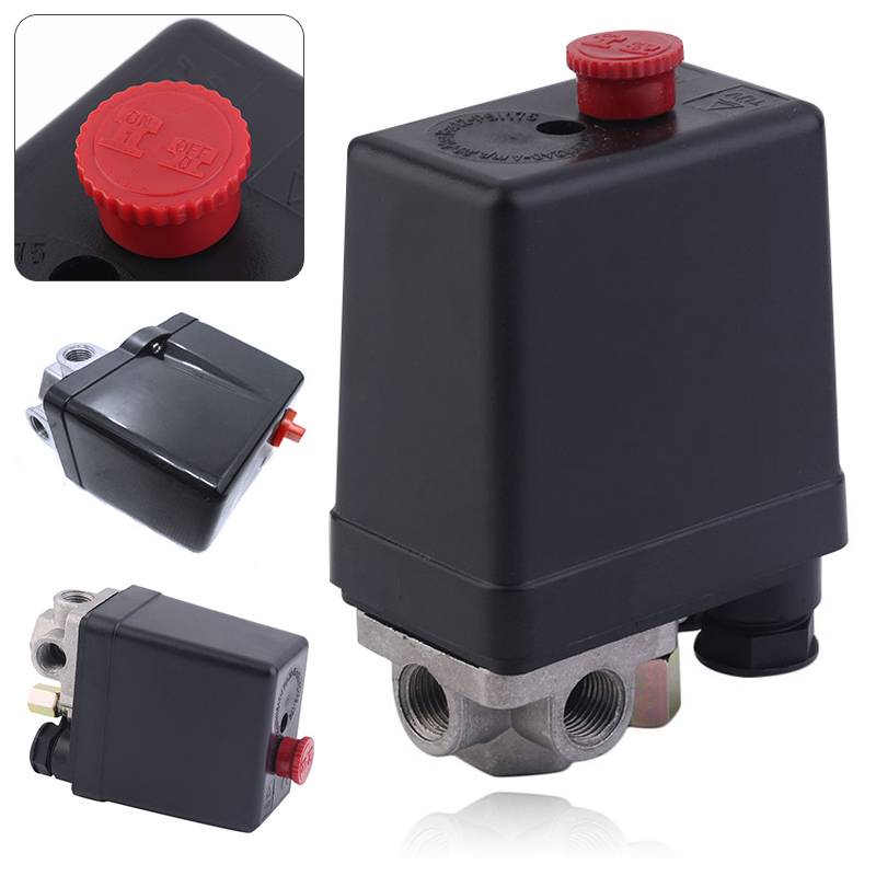 3-phase Heavy Duty Air Compressor Pressure Switch Control Valve  380/400V Air Compressor Switch Control Mayitr heavy duty air compressor pressure control switch valve 90 120psi 12 bar 20a ac220v 4 port 12 5 x 8 x 5cm promotion price