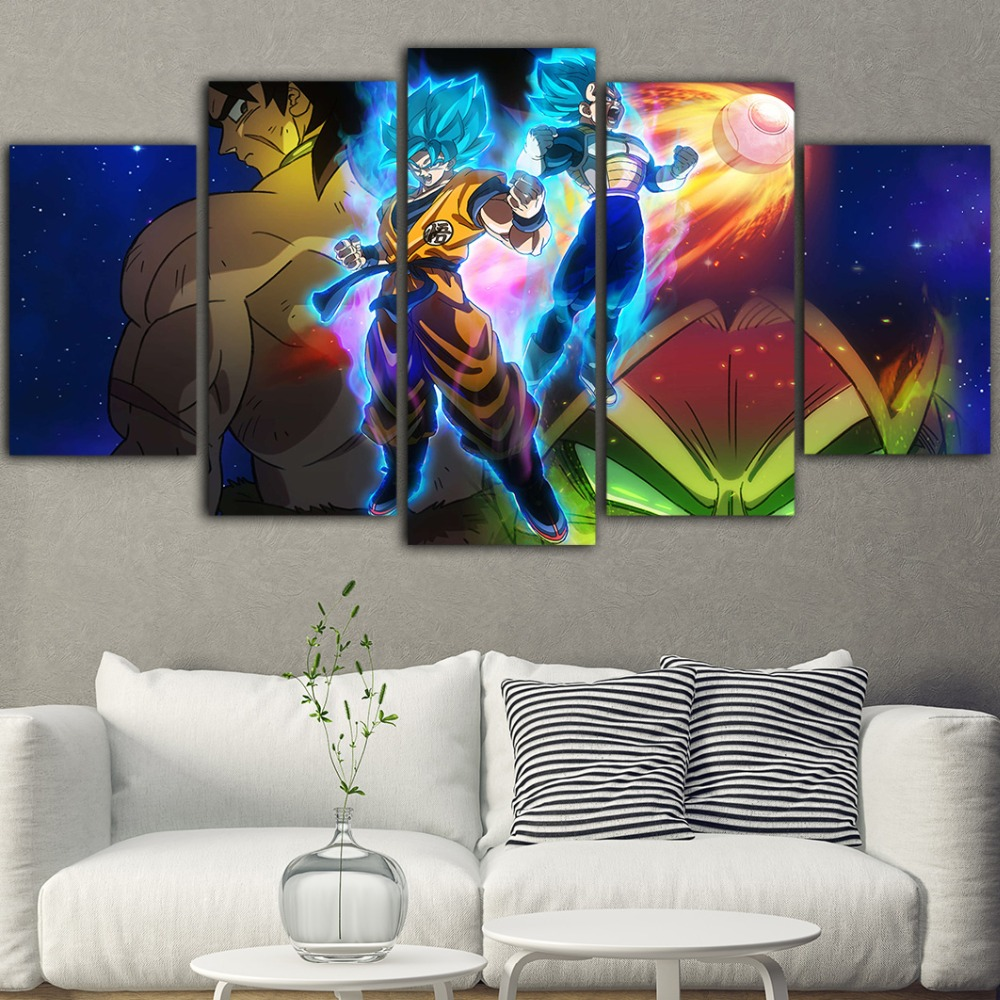 5 Piece Cuadros Decoracion Salon Anime Painting Colorful Poster And Prints Dragon Ball Wall Art Picture Canvas Painting Pop Art 1