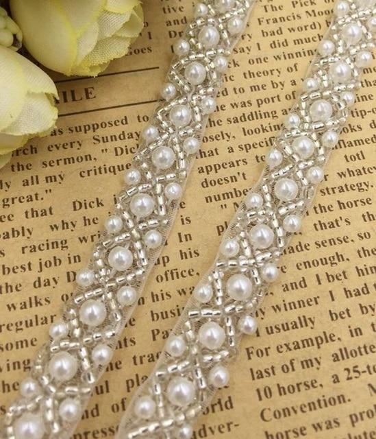 Con cuentas de perlas BRICOLAJE recortar para venda de boda del ...