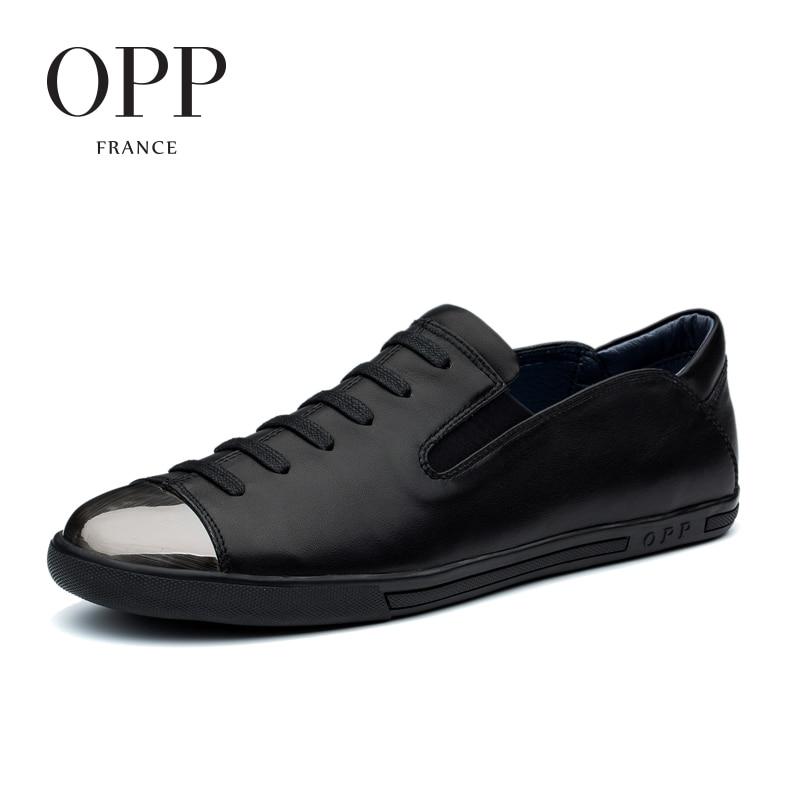 OPP Лето 2017 г. Для мужчин S Обувь Лоферы для женщин для Для мужчин Пояса из натуральной кожи обувь на плоской подошве повседневная обувь натура...