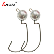 KASSYAA Crank Lead Fishing Hooks 3.5g 5g 7g 10g Fishing Soft Lead Head Hook Jig Lure Soft Worm Fishing Tackle Accessories KXY049 hoofish 20pcs lot lead jig head fishing hook for soft fishing lure 10g 7g 5g 3g soft lure hooks bait hooks single hook