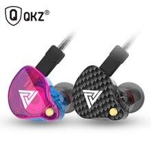 Проводные наушники QKZ VK4 3,5 мм, Спортивная игровая гарнитура, наушники вкладыши HiFi, музыкальные наушники с микрофоном для iPhone, Samsung, Xiaomi