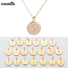 Women Initial Name Letter Pendant Necklace Gold Color Handmade Neck Collar DIY Female Custom Clavicular Chain Choker