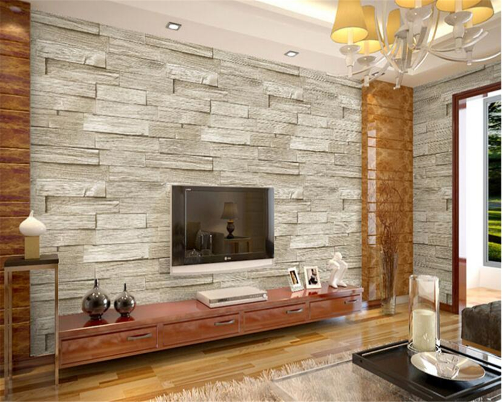 Beibehang papel de parede rétro nostalgique en bois pvc panneau bois plancher 3d papier peint chinois Restaurant Bar fond mur