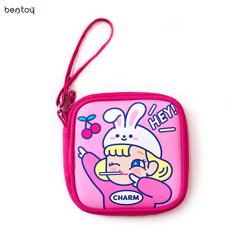 Travel Mini Kids Unicorn Coin Earphone Pocket Bag Protable Cute Digital USB Cable Charger Organizer Storage Bag Accessories Case